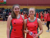 Ellie Begley and Meg Garrah Welsh U17s